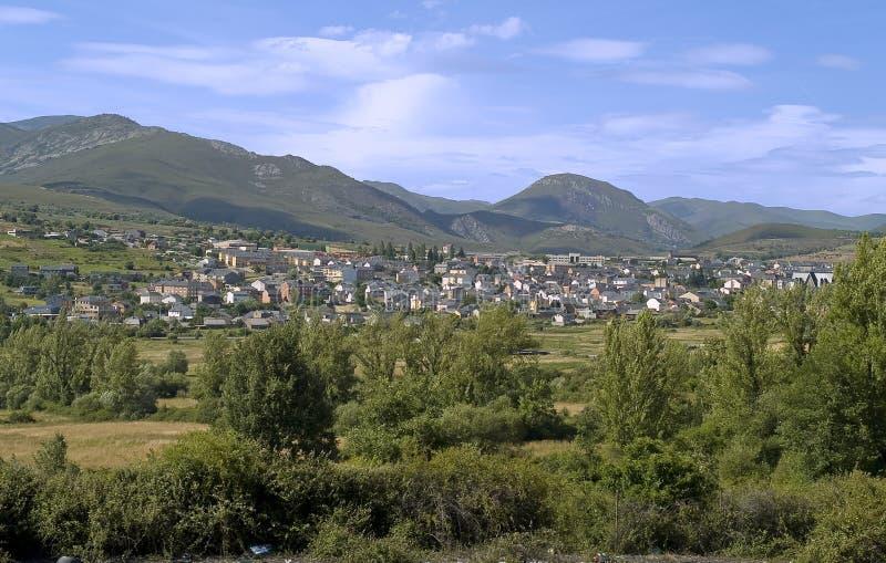 Fabero, Dorf von Nordspanien lizenzfreies stockfoto