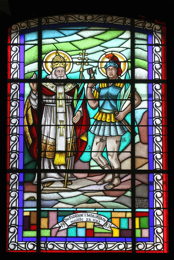 fabian saint sebastian arkivbilder