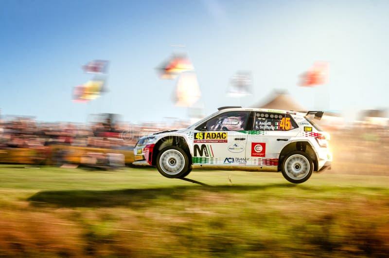 Fabio Andolfini and Simone Scattolin at ADAC Rally Germany stock photo