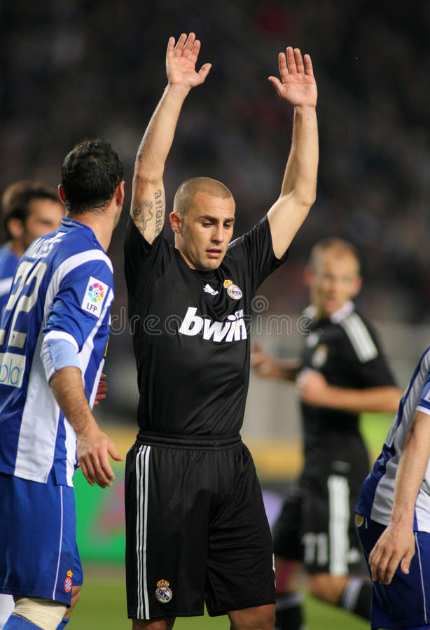 Download Fabio Cannavaro Of Real Madrid Editorial Stock Image - Image: 18872294