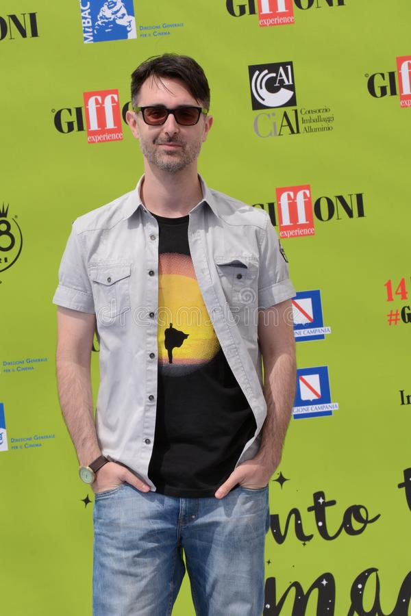 Fabio Guaglione przy Giffoni Ekranowym festiwalem 2017 obraz royalty free