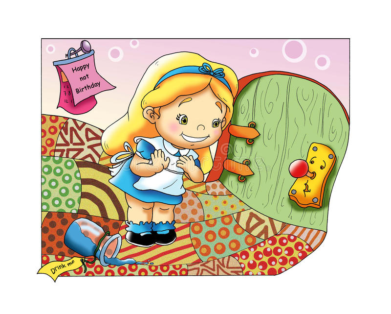 Fable, Alice in the country of the wonder royalty free stock photos