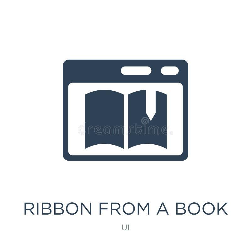 faborek od książkowej ikony w modnym projekta stylu faborek od książkowej ikony odizolowywającej na białym tle faborek od książko ilustracji
