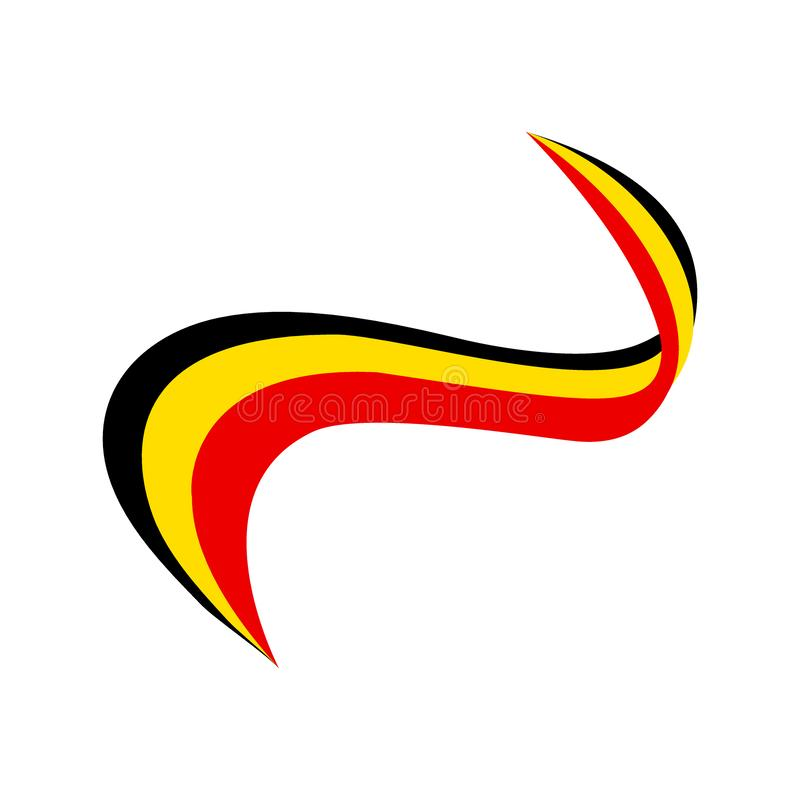 Faborek w kolorze flaga Belgia ilustracji