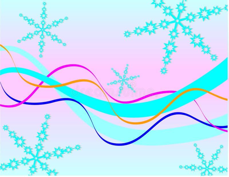 faborków błękitny płatek śniegu ilustracji