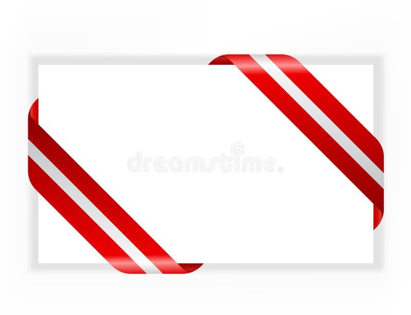 faborku karciany czerwony srebro ilustracja wektor