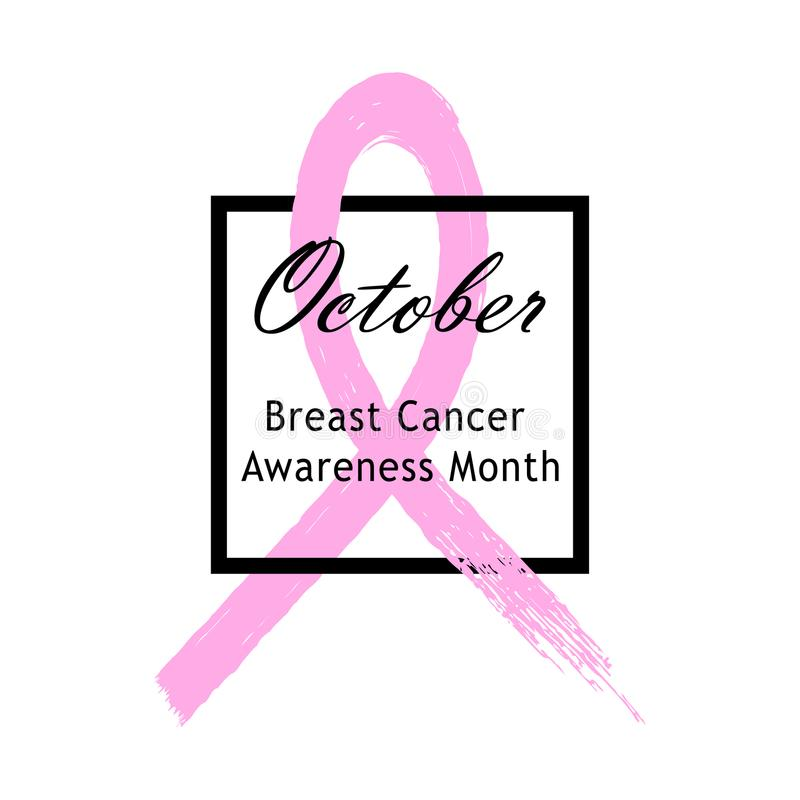 faborku różowy wektor Emblemat nowotwór piersi świadomości miesiąc pojedynczy białe tło ilustracja wektor