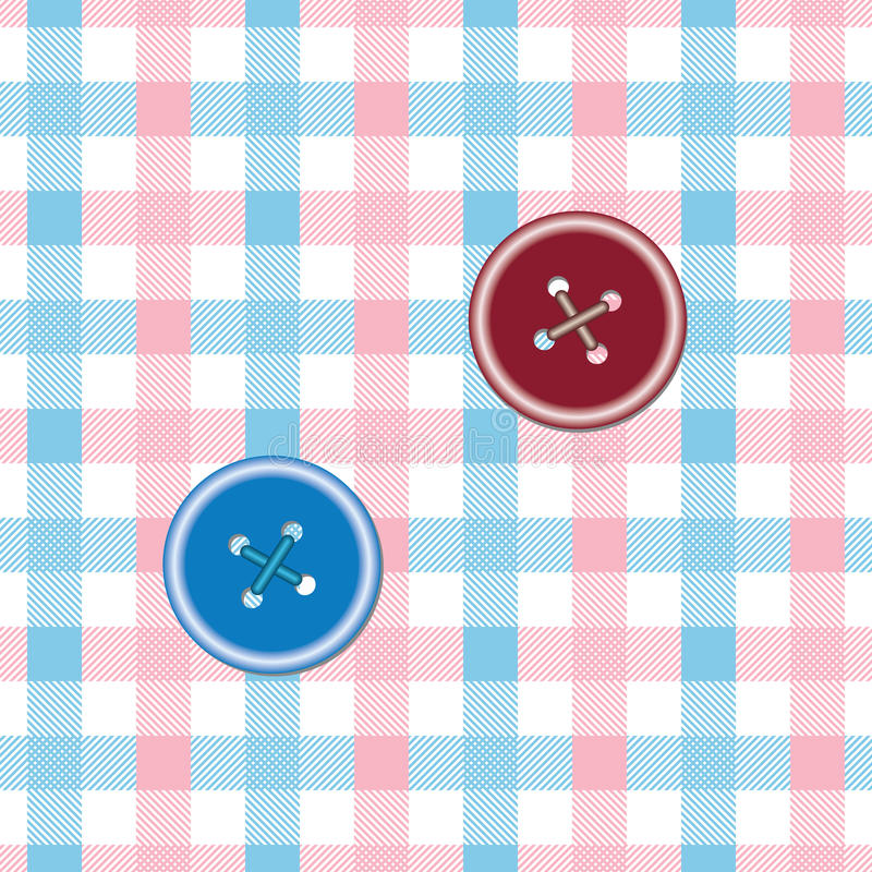 Fabric background with buttons royalty free illustration