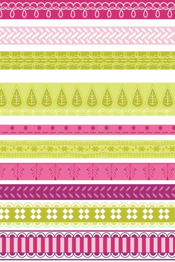 Download Fabric border art stock vector. Image of swirl, decorative - 12839622