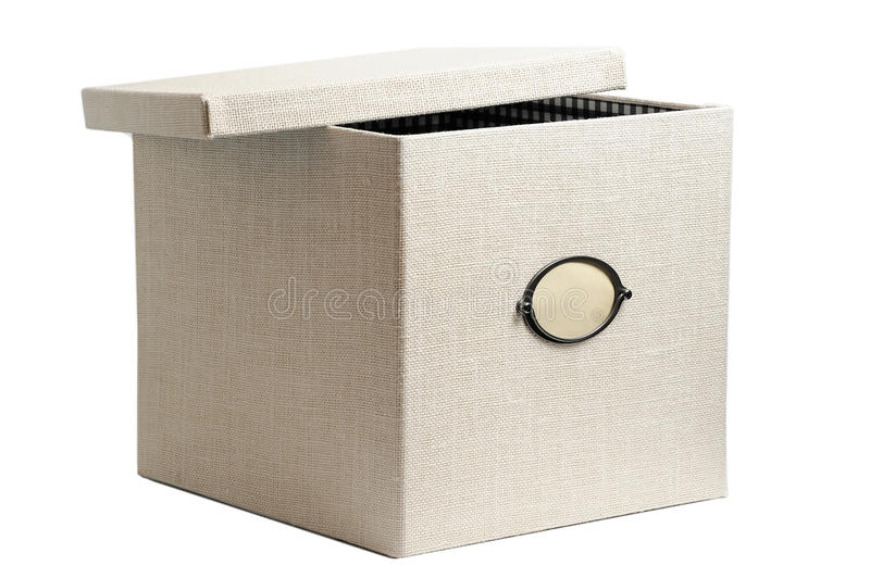 Download Fabric Box Isolate On White Stock Image - Image: 25468531