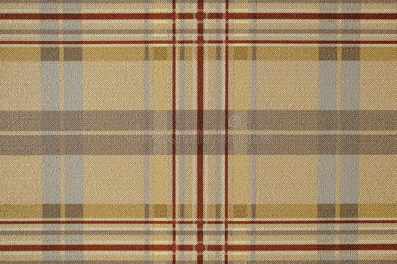 Fabric brown plaid. Brown check pattern. Tartan design as background. Checked fabric. stock images