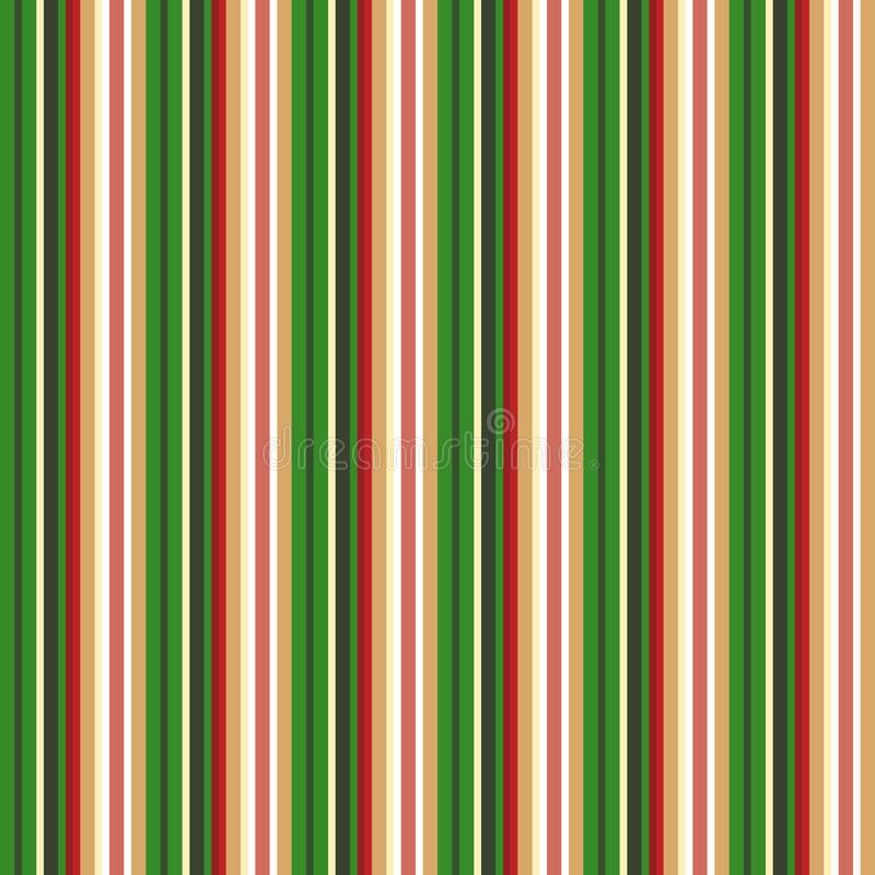 Fabric chrismas Color style seamless stripes pattern. Abstract royalty free illustration