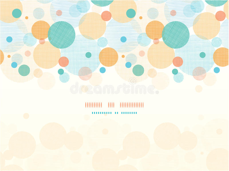 Fabric circles abstract horizontal seamless stock illustration