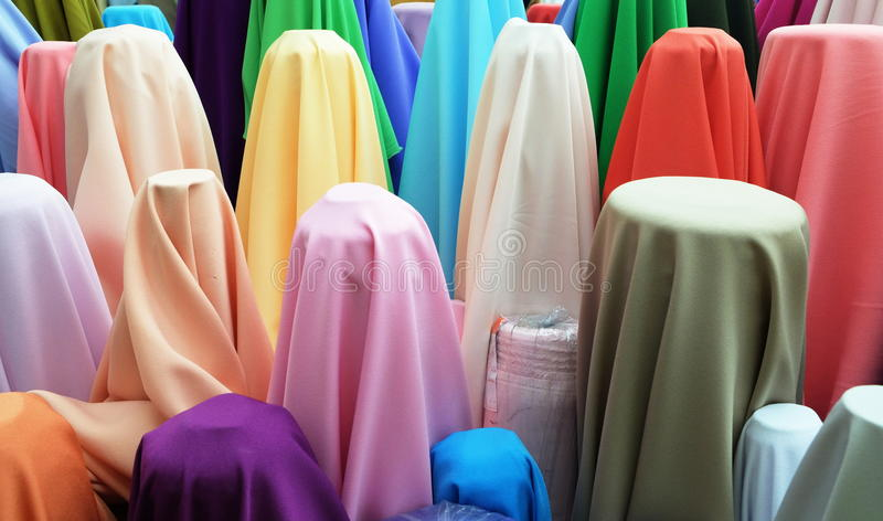 The fabric in coloful royalty free stock images