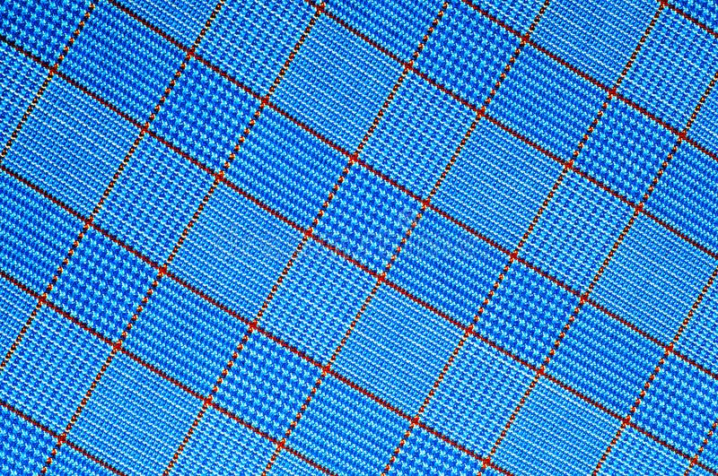Fabric coloring in the box. tartan cloth. stock images