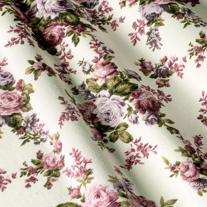 Fabric cotton provence, pink flowers. Cotton Provence Fabrics stock image