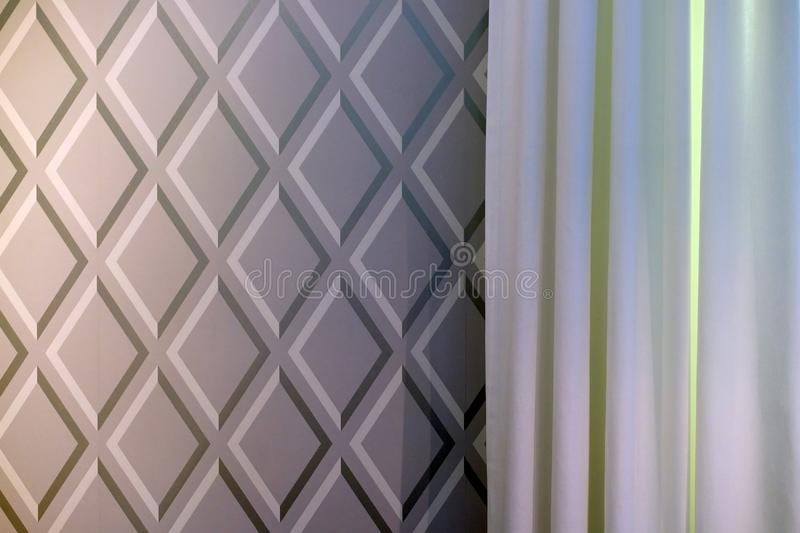 Fabric curtains dark and light colors. royalty free illustration
