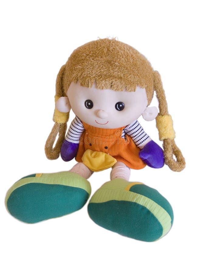 Fabric doll stock photo
