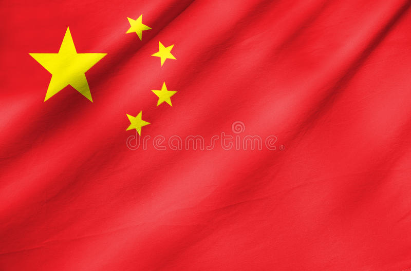 Fabric Flag of China royalty free stock image