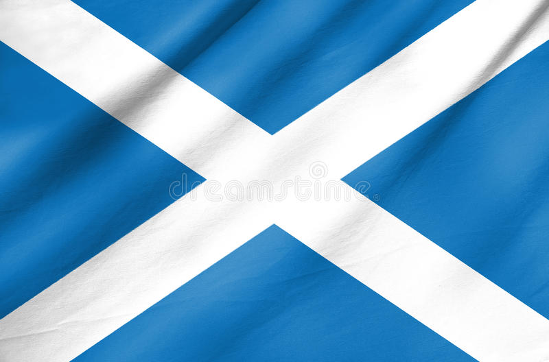 Download Fabric Flag Of Scotland Stock Photo - Image: 32043820