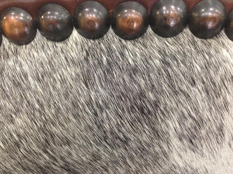 Fabric, Horse hair and brass tacks royalty free stock photos