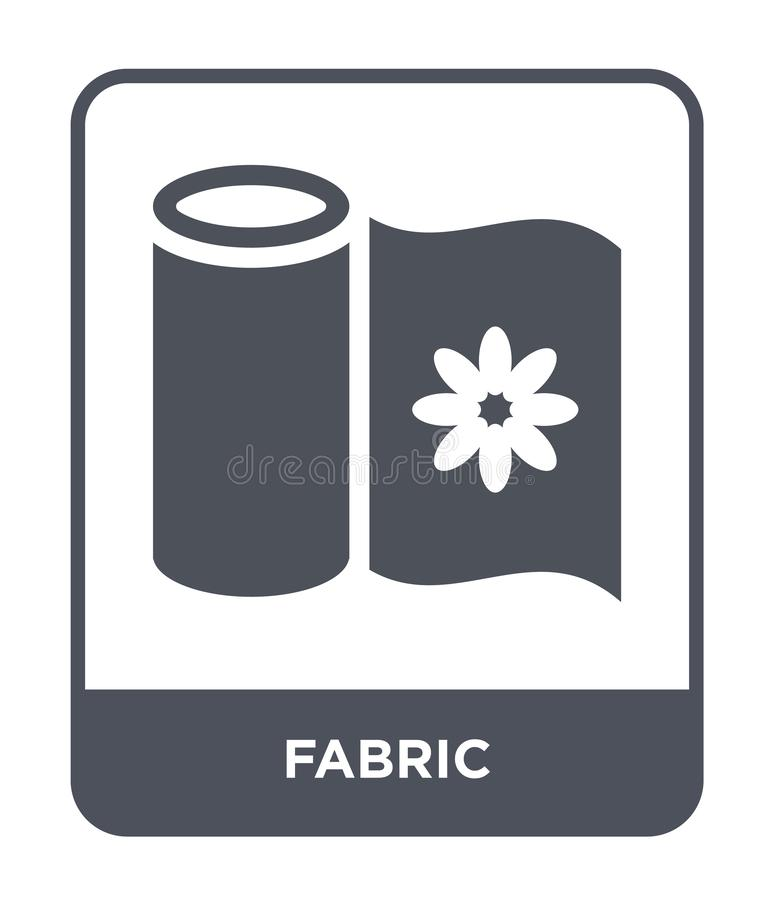Fabric icon in trendy design style. fabric icon isolated on white background. fabric vector icon simple and modern flat symbol for. Web site, mobile, logo, app vector illustration