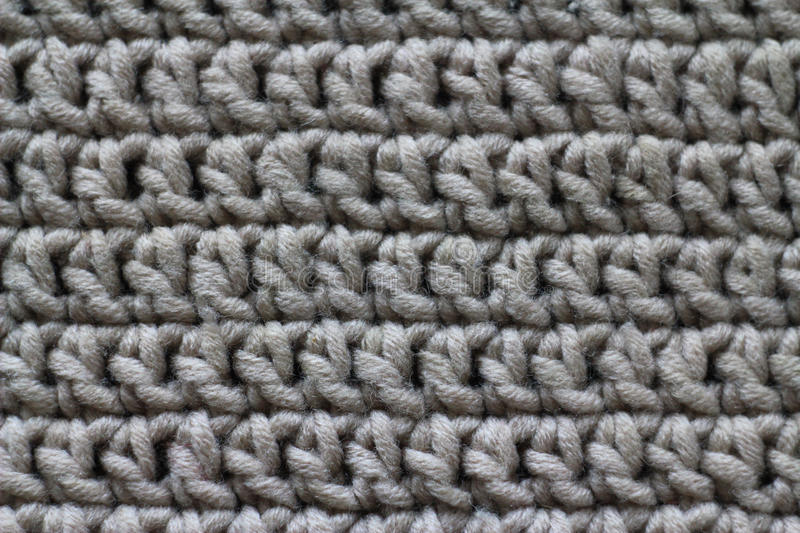 Fabric, knitted from yarn, close-up, stock photo