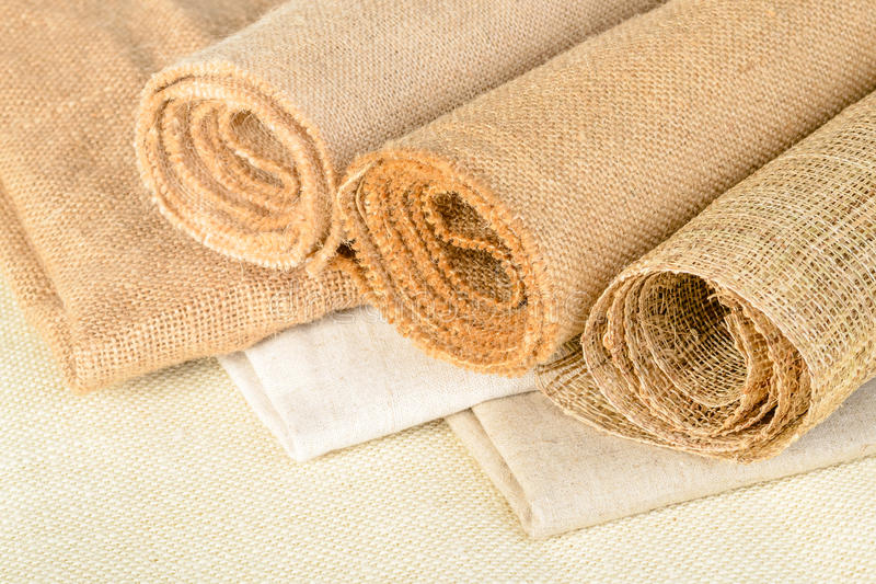 Fabric of linen royalty free stock photo