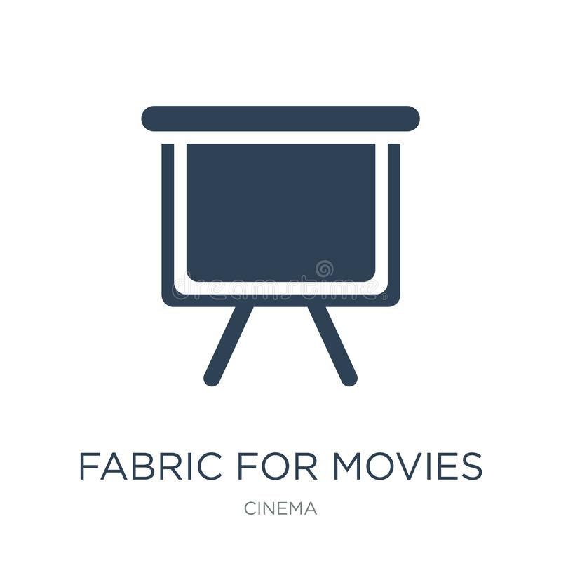 Fabric for movies icon in trendy design style. fabric for movies icon isolated on white background. fabric for movies vector icon. Simple and modern flat symbol royalty free illustration