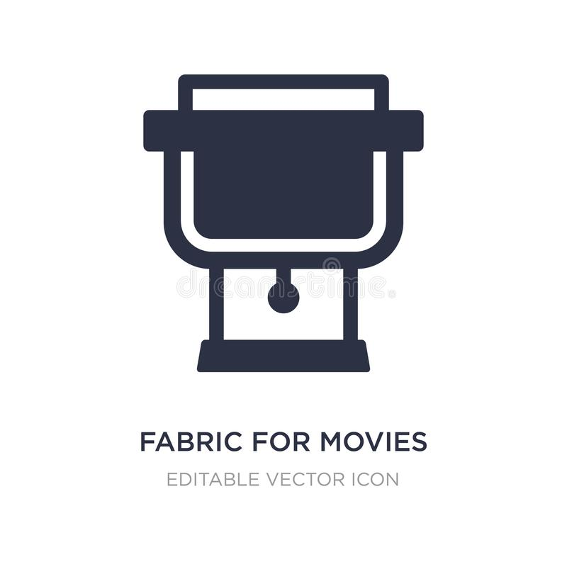 fabric for movies icon on white background. Simple element illustration from Cinema concept stock illustration