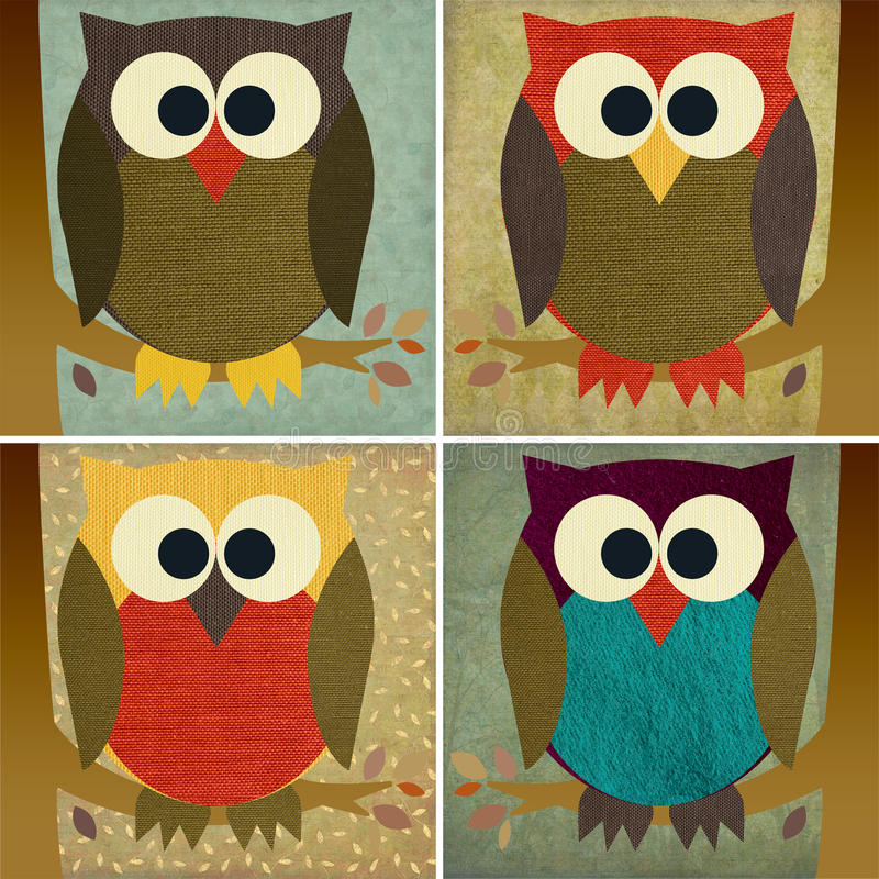 Fabric Owl royalty free illustration