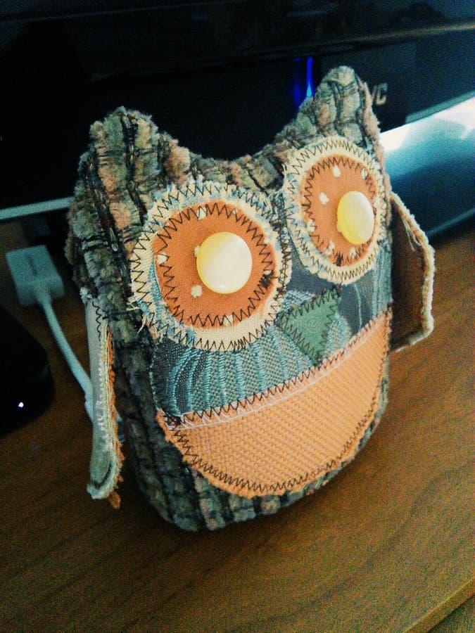 Fabric Owl stock image