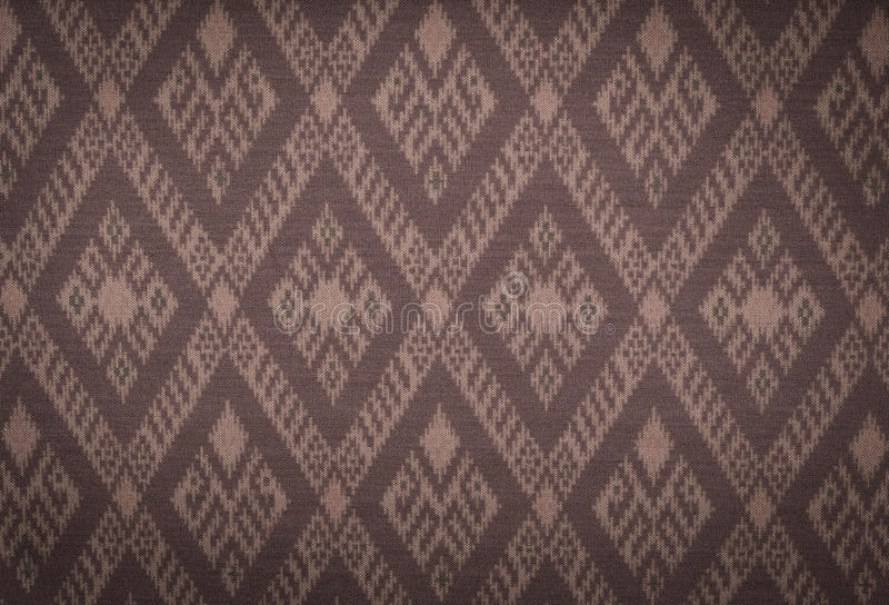 Fabric pattern. Background of Thai style fabric pattern royalty free stock image