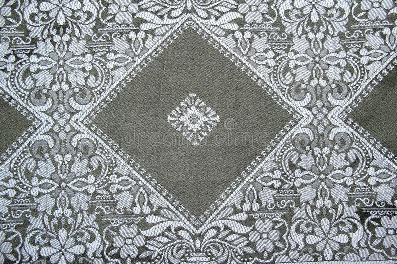 Fabric Pattern. Fabric Pattern on a bed seat stock photos