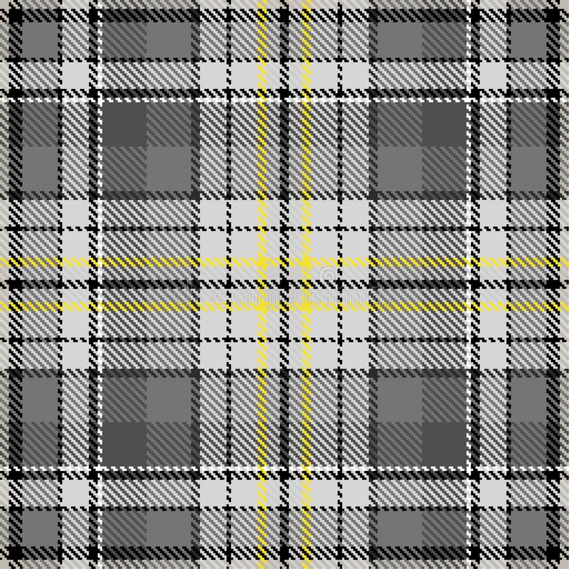 Fabric pattern fashion check pattern grey yellow royalty free illustration