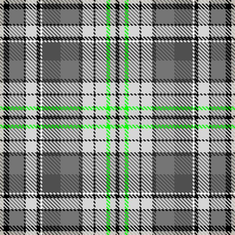 Fabric pattern fashion checkered textile grey green vector illustration