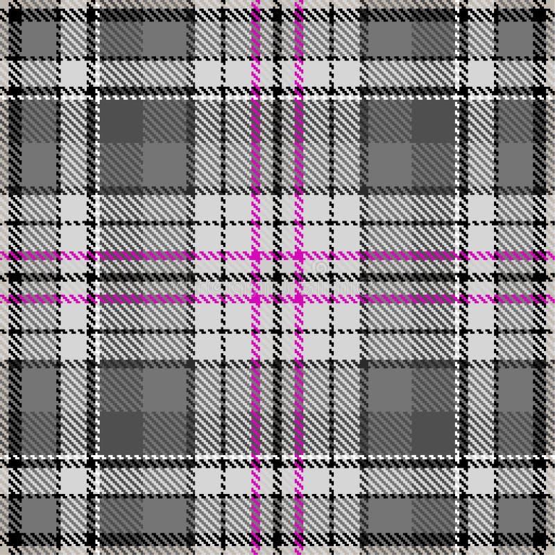 Fabric pattern fashion checkered textile grey green stock illustration