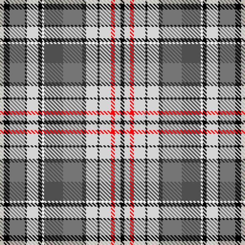 Fabric pattern fashion check pattern grey red royalty free illustration