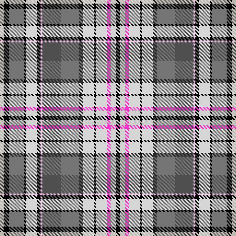 Fabric pattern fashion check pattern grey rose royalty free illustration