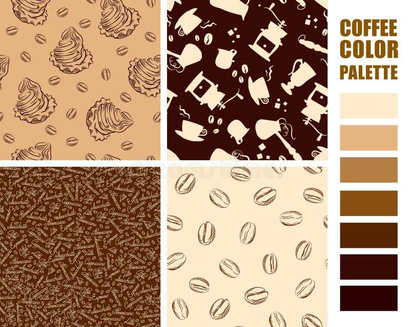 Fabric pattern set. stock illustration