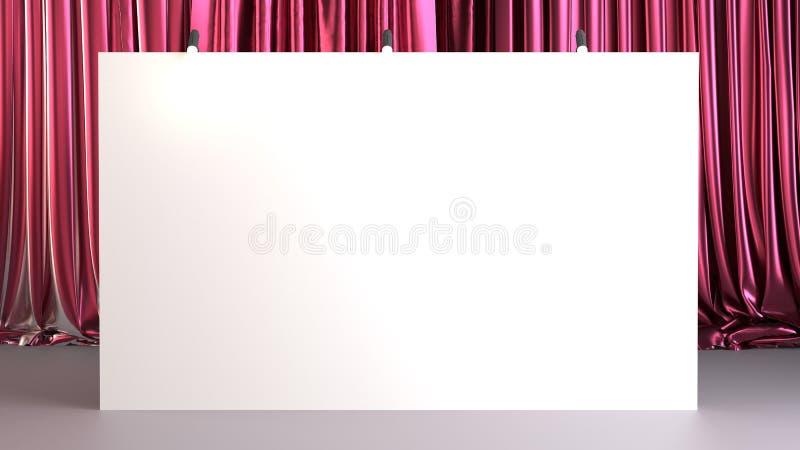 Fabric Pop Up basic unit Advertising banner media display backdrop, empty background, royalty free stock image