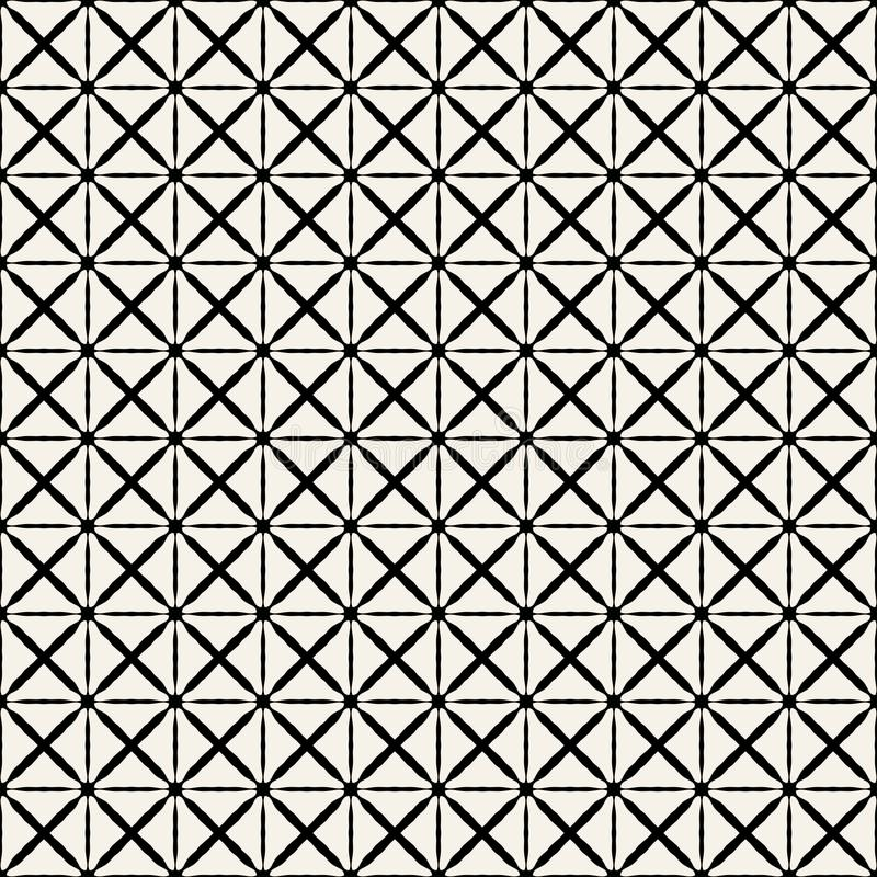 Fabric print. Geometric pattern in repeat. Seamless background, mosaic ornament, ethnic style. Two colors royalty free illustration
