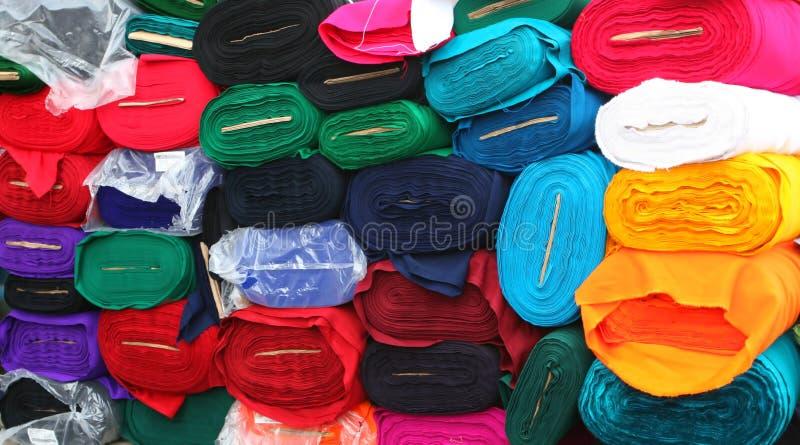 Fabric Rolls royalty free stock photo