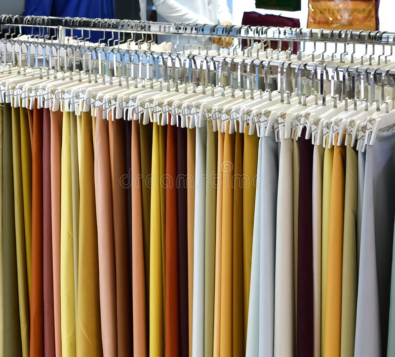 Fabric for sewing traditional Arabic clothing for men. Fabric for a sewing traditional Arabic clothing for men royalty free stock images