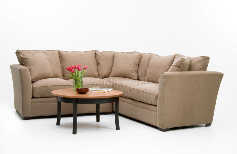 Fabric Sofa Set & table stock photo