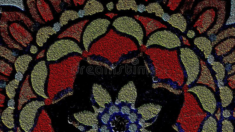 Fabric Stain Glass Pattern Youtube Channel Art Banner. 2560 x 1440, Textured Fabric Pattern royalty free stock photography