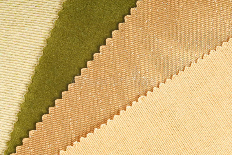 Fabric swatches. Choice for home interior royalty free stock photo