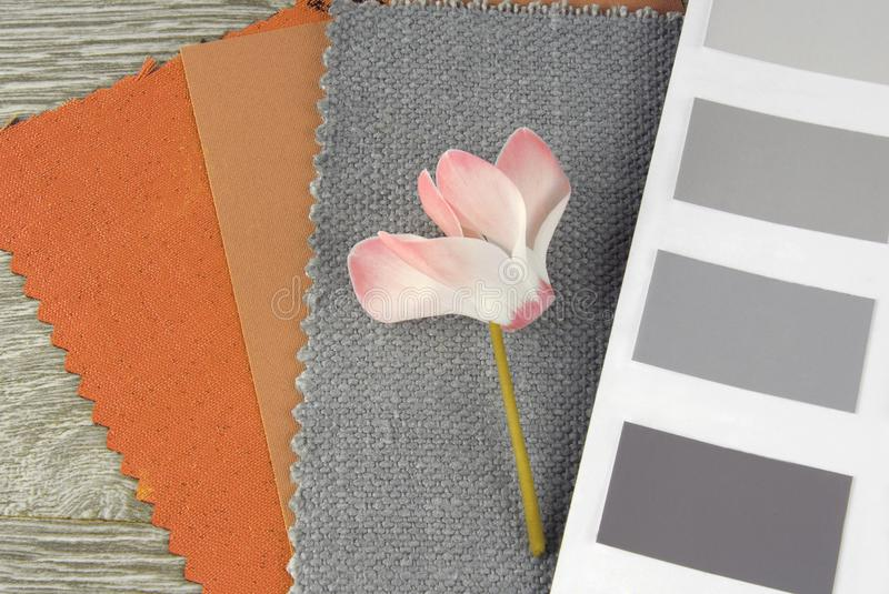 Fabric swatches designing. Combine with colors stock images