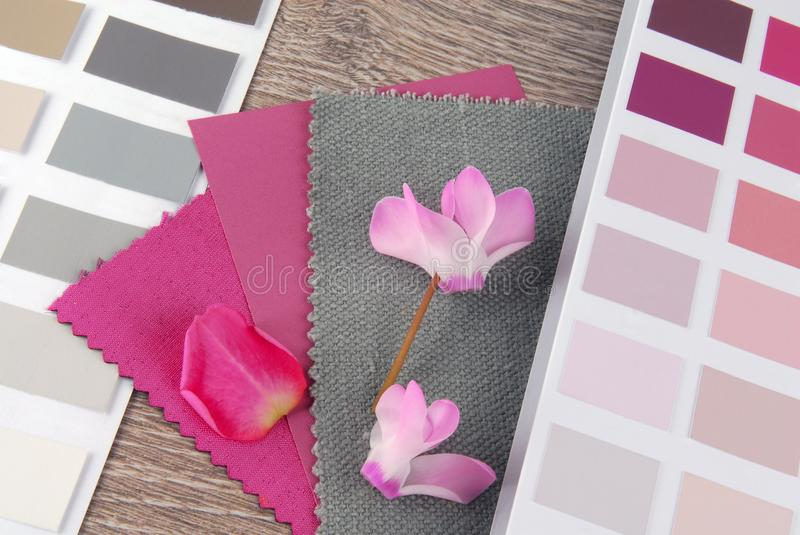 Fabric swatches designing. Combine with colors royalty free stock image
