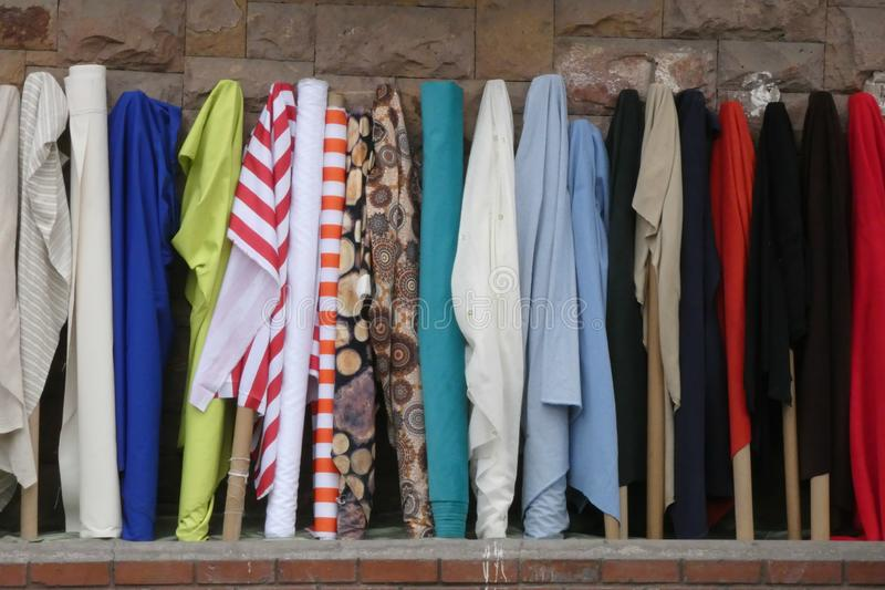 Fabric Rolls stock photography